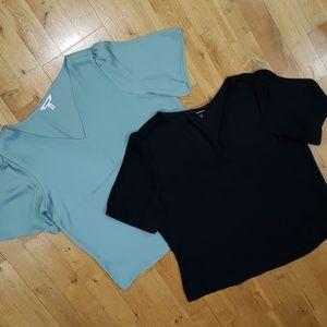EXPRESS Bundle of 2 Dressy Blouses (M)